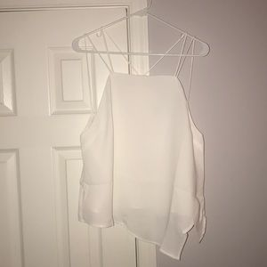 TOBI asymmetrical white top